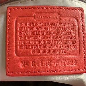 Coach Bags - Coach Coral embossed Logo Tote